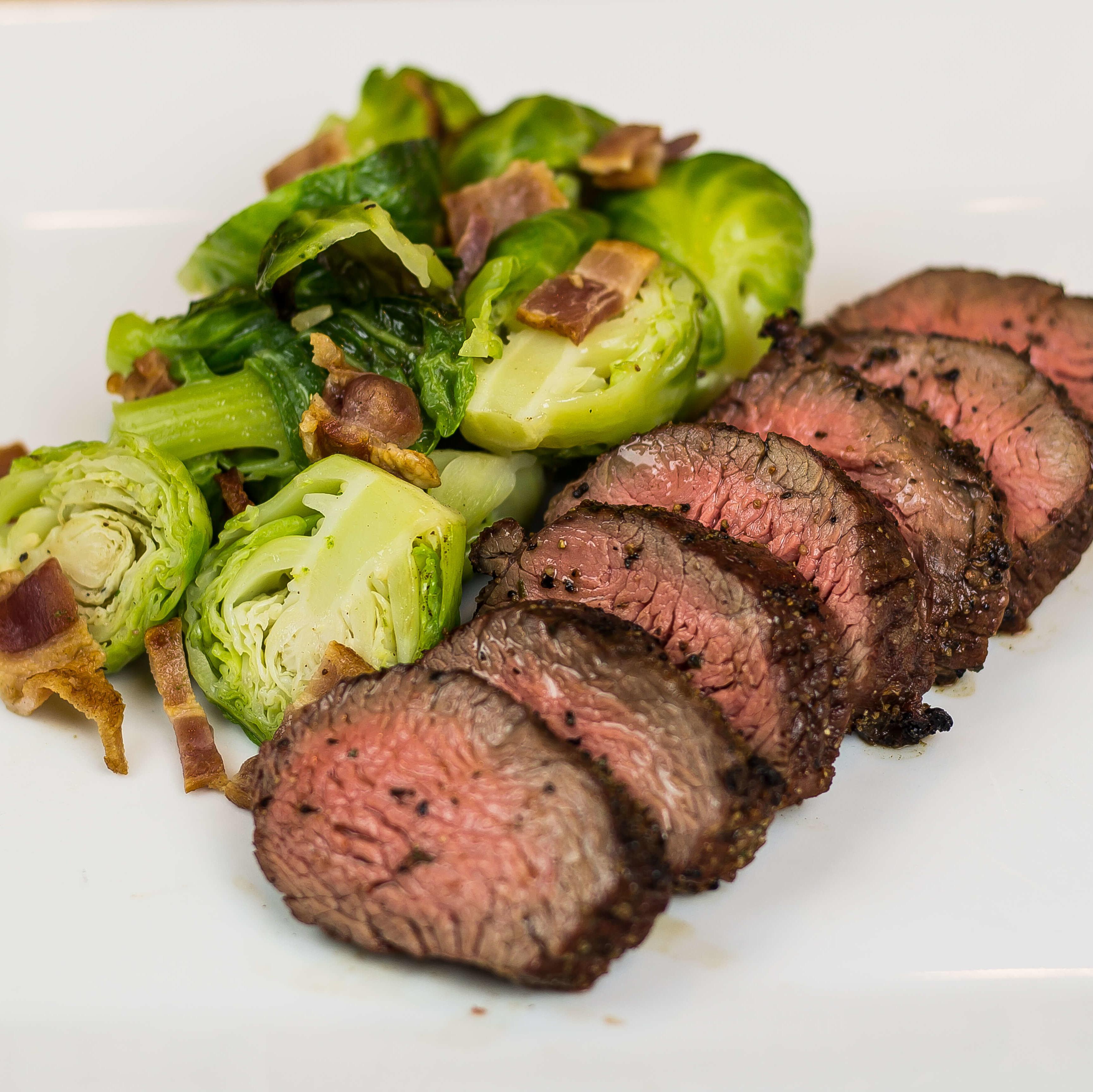 lemon pepper bistro steak brussels sprouts w bacon mightymeals